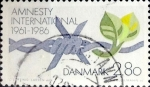 Stamps Denmark -  Intercambio 0,25 usd 2,80 krone 1986
