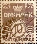 Sellos de Europa - Dinamarca -  Intercambio 0,25 usd 10 ore 1937