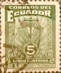 Sellos de America - Ecuador -  Intercambio 0,20 usd 5 cents. 1943