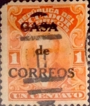 Stamps : America : Ecuador :  Intercambio 0,30 usd 1 cents. 1920