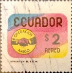 Stamps : America : Ecuador :  Intercambio 0,20 usd 2 sucres 1970