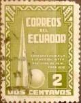 Sellos de America - Ecuador -  Intercambio 0,35 usd 2 cents. 1939