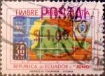 Sellos del Mundo : America : Ecuador : Intercambio 0,30 usd 1 sucre sobre 30 cents. 1969