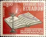 Stamps : America : Ecuador :  Intercambio 0,20 usd 1 Sucre 1959