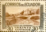Stamps : America : Ecuador :  Intercambio 0,50 usd 30 cents. 1953