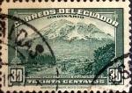 Sellos de America - Ecuador -  Intercambio 0,25 usd 30 cents. 1947