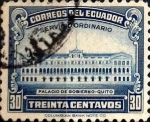 Stamps : America : Ecuador :  Intercambio 0,20 usd 30 cents. 1944