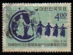 Stamps Asia - South Korea -  COREA SUR 1965 Scott468 Sello Conferencia del Turismo PATA Mujeres BailandoUsado Michel 477