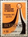 Sellos de America - Ecuador -  Intercambio 1,00 usd 10 sucres 1971