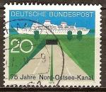 Sellos de Europa - Alemania -  75 años del canal de Kiel.