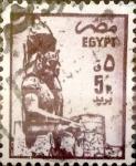 Stamps : Africa : Egypt :  Intercambio 0,20 usd 5 piastras 1985