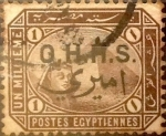 Stamps : Africa : Egypt :  1 miles. 1907