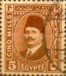 Stamps : Africa : Egypt :  Intercambio 0,40 usd 5 miles. 1929