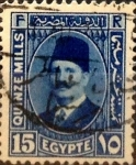 Stamps : Africa : Egypt :  Intercambio 0,20 usd 15 miles. 1927
