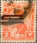 Stamps : Africa : Egypt :  2 miles. 1945