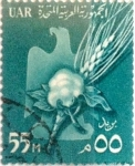 Stamps : Africa : Egypt :  55 miles. 1959