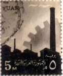 Stamps : Africa : Egypt :  5 miles. 1960