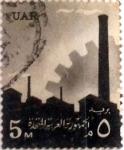 Sellos del Mundo : Africa : Egipto : 5 miles. 1960