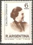 Sellos de America - Argentina -  MUJERES  ARGENTINAS  FAMOSAS.  CECILIA  GRIERSON,  SIC�LOGA.