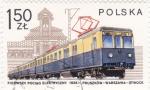 Stamps Poland -  TREN ELECTRICO