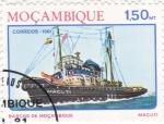 Sellos de Africa - Mozambique -  MACUTI -BARCO DE MOZAMBIQUE