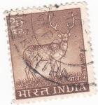 Sellos de Asia - India -  CIERVO