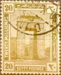 Stamps : Africa : Egypt :  20 miles. 1914