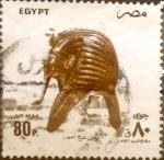 Stamps : Africa : Egypt :  Intercambio 1,25 usd 80 piastras 1993