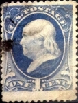 Stamps United States -  Intercambio 20,00 usd 1 cents. 1870