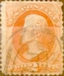 Sellos del Mundo : America : Estados_Unidos : 2 cents. 1879