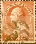 Sellos de America - Estados Unidos -  Intercambio 0,60 usd 2 cents. 1883