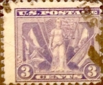 Stamps United States -  Intercambio 3,25 usd 3 cents. 1919