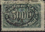 Stamps Europe - Germany -  DEUTSCHES REICH 1922 Scott208  Sello Serie Básica Números Alemania Michel256 usado