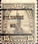 Sellos de America - Estados Unidos -  Intercambio cxrf2 0,30 usd 15 cents. 1922