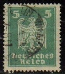 Sellos del Mundo : Europa : Alemania : DEUTSCHES REICH 1924 Scott331 Sello Serie Aguila Alemania Mitchel357