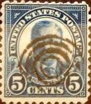 Sellos de America - Estados Unidos -  Intercambio 0,30 usd 5 cents. 1922