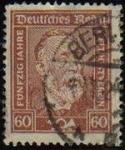Sellos del Mundo : Europa : Alemania : DEUTSCHES REICH 1924 Scott342 Sello Heinrich Von Stephan Alemania Mitchel362