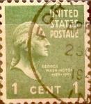 Sellos de America - Estados Unidos -  Intercambio 0,20 usd 1 cents. 1938