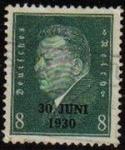 Sellos del Mundo : Europa : Alemania : DEUTSCHES REICH 1931 Scott370 Sello Presidente Pfriedrich Ebert Alemania Mitchel444