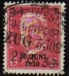 Sellos del Mundo : Europa : Alemania : DEUTSCHES REICH 1931 Scott374 Sello Presidente Paul Von Hindenburg Alemania Mitchel445
