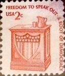 Sellos de America - Estados Unidos -  Intercambio 0,20 usd 2 cents. 1977