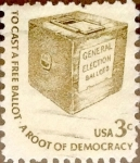 Sellos de America - Estados Unidos -  Intercambio 0,20 usd 3 cents. 1977