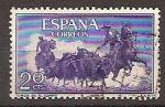 Sellos de Europa - España -  ESPAÑA SEGUNDO CENTENARIO USD Nº 1255 (0) 20C VIOLETA AZUL TAUROMAQUIA