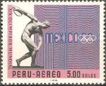 Sellos de America - Perú -  19th  JUEGOS  OLÌMPICOS,  MEXICO  68.