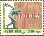 Stamps Peru -  19th  JUEGOS  OLÌMPICOS,  MEXICO  68.