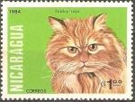 Stamps Nicaragua -  GATOS  DOMÈSTICOS.  TABBY  ROJO.