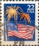 Stamps United States -  Intercambio 0,20 usd 22  cents. 1987
