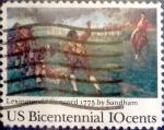 Sellos de America - Estados Unidos -  Intercambio 0,20 usd 10 cents. 1975