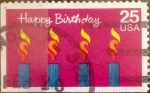 Stamps : America : United_States :  Intercambio cr5f 0,20 usd 25 cents. 1988