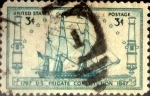 Stamps : America : United_States :  Intercambio 0,20 usd 3 cents. 1947